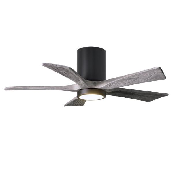 Atlas Irene 42 In Led Indoor Outdoor Damp Matte Black Ceiling Fan With Remote Control And Wall Control Ir5hlk Bk Bw 42 The Home Depot