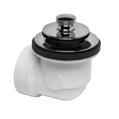 Schedule 40 PVC Bathtub Drain Waste and Overflow Kit with Chrome Drain Stopper