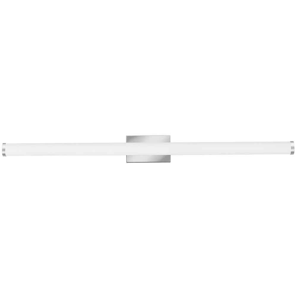 Lithonia Lighting 48 In Chrome Integrated Led Vanity Light Bar With Selectable Color Temperature