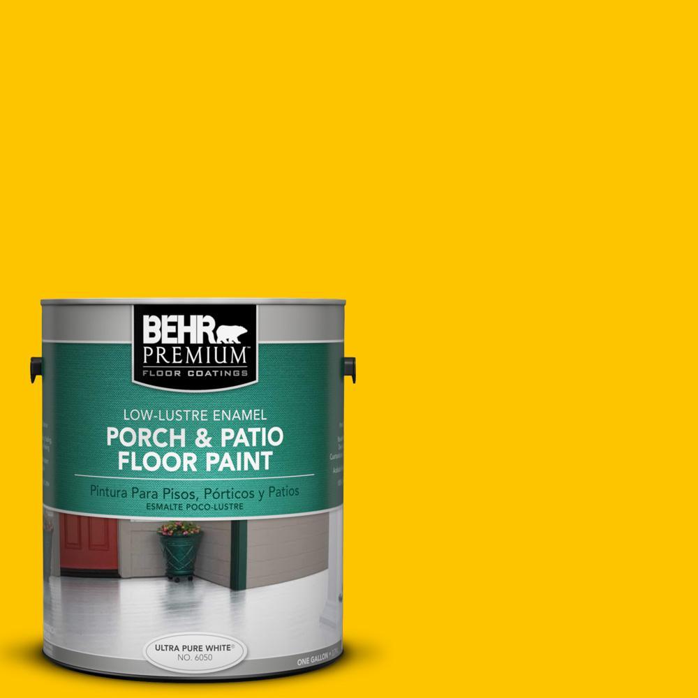 1 gal. #S-G-370 Citrus Splash Low-Lustre Porch and Patio Floor Paint