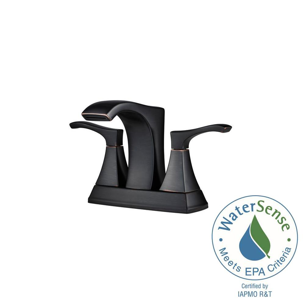Pfister Venturi 4 in. Centerset 2-Handle Bathroom Faucet in Tuscan ...