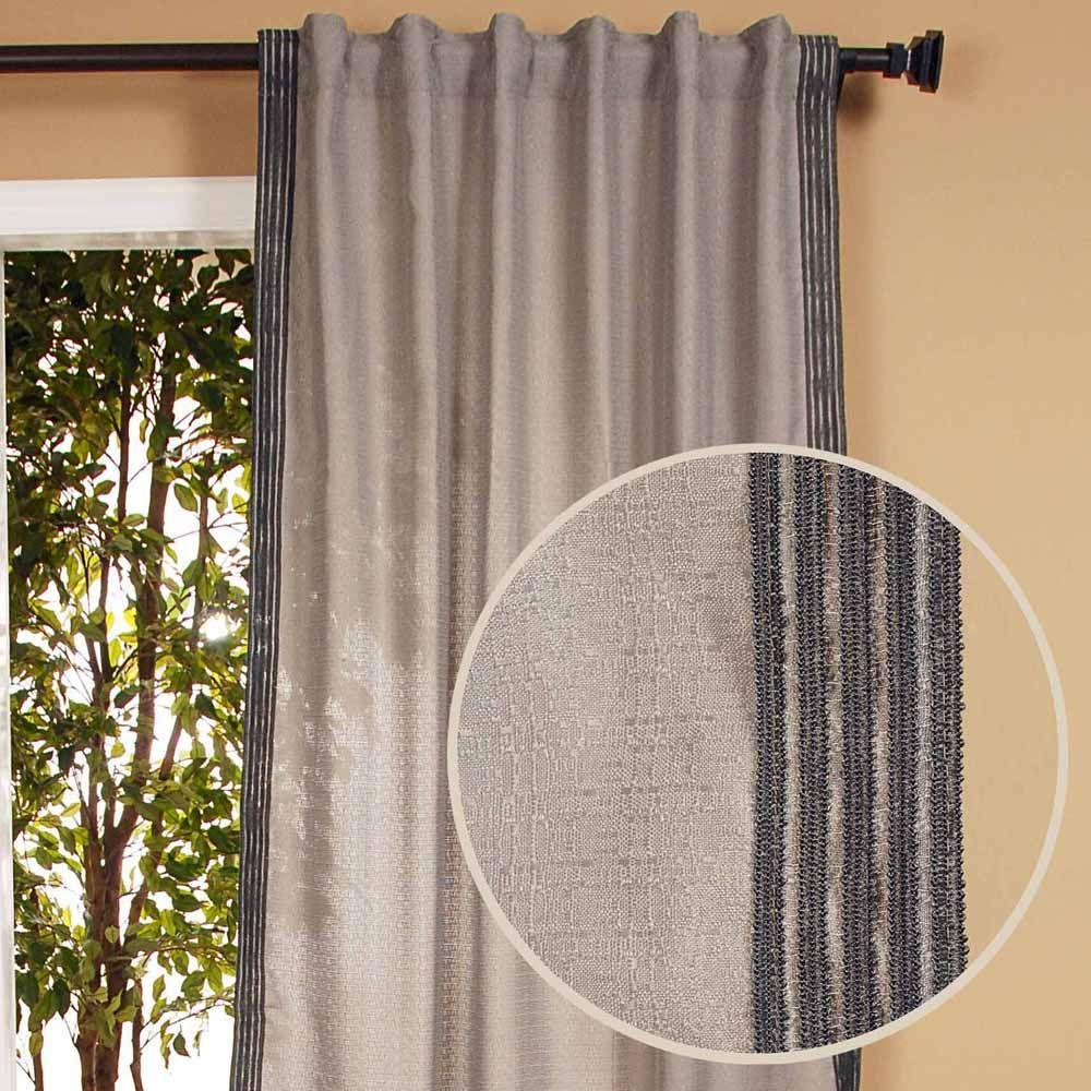 Home Decorators Collection Semi-Opaque Malti Smoke Back Tab Curtain-DISCONTINUED