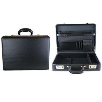 17.3 in. Vinyl Single Compartment Computer Case/Attach Business Case with Secure Combination Lock Closure