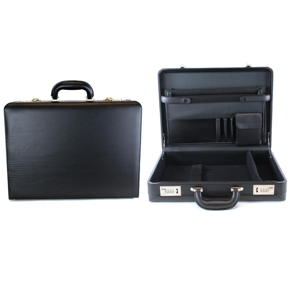 Heritage 17.3 in. Vinyl Single Compartment Computer Case/Attach Business Case with Secure Combination Lock Closure