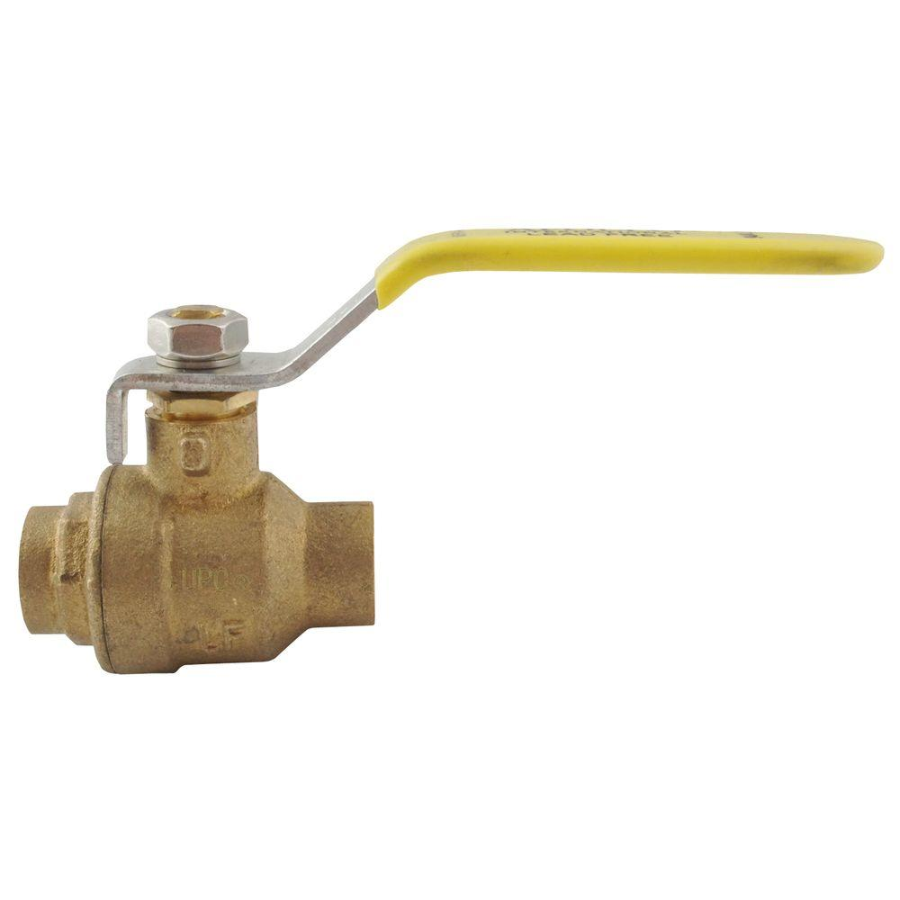 1 in. Brass SWT x SWT Ball Valve Solder Full-Port