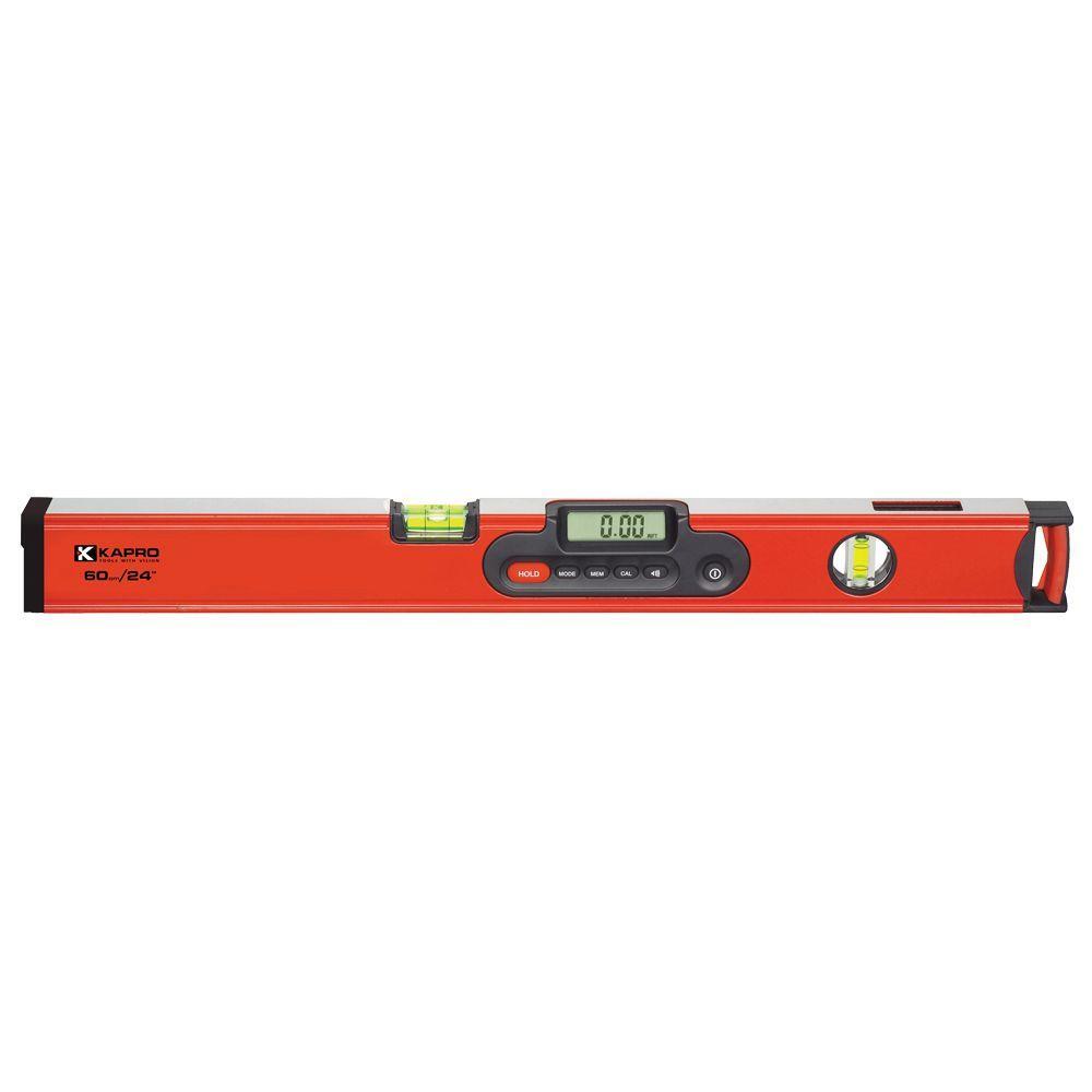 Kapro 24 in. Digiman Magnetic Digital Level with Laser Pointer
