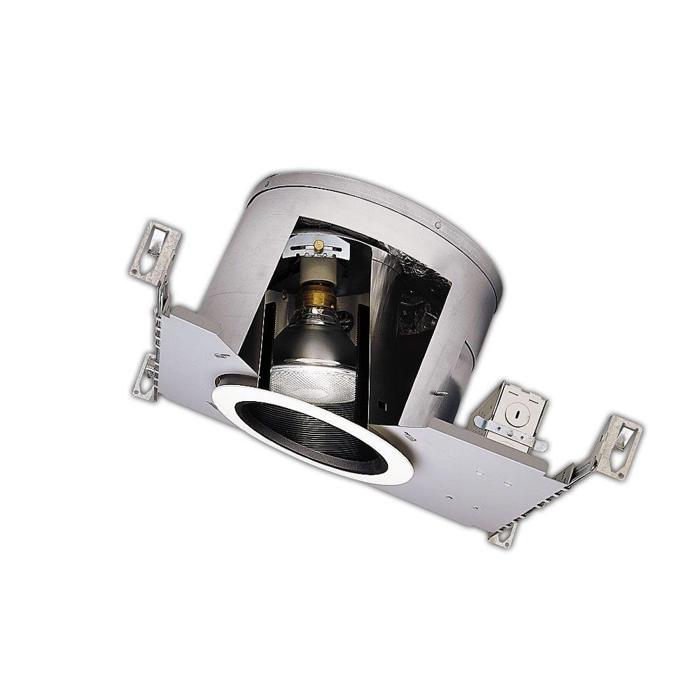 Aluminum Recessed Lighting Housing for New Construction Sloped Ceiling Insulation  sc 1 st  The Home Depot & Halo H47 6 in. Aluminum Recessed Lighting Housing for New ...