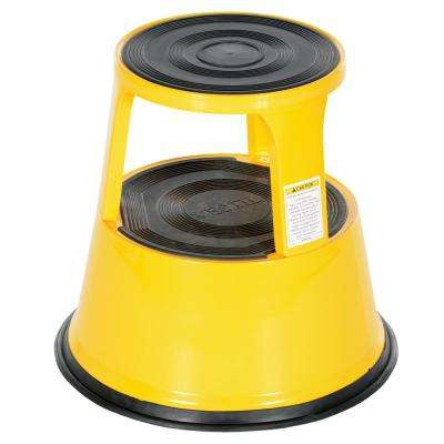 17 in. Yellow Rolling Step Stool