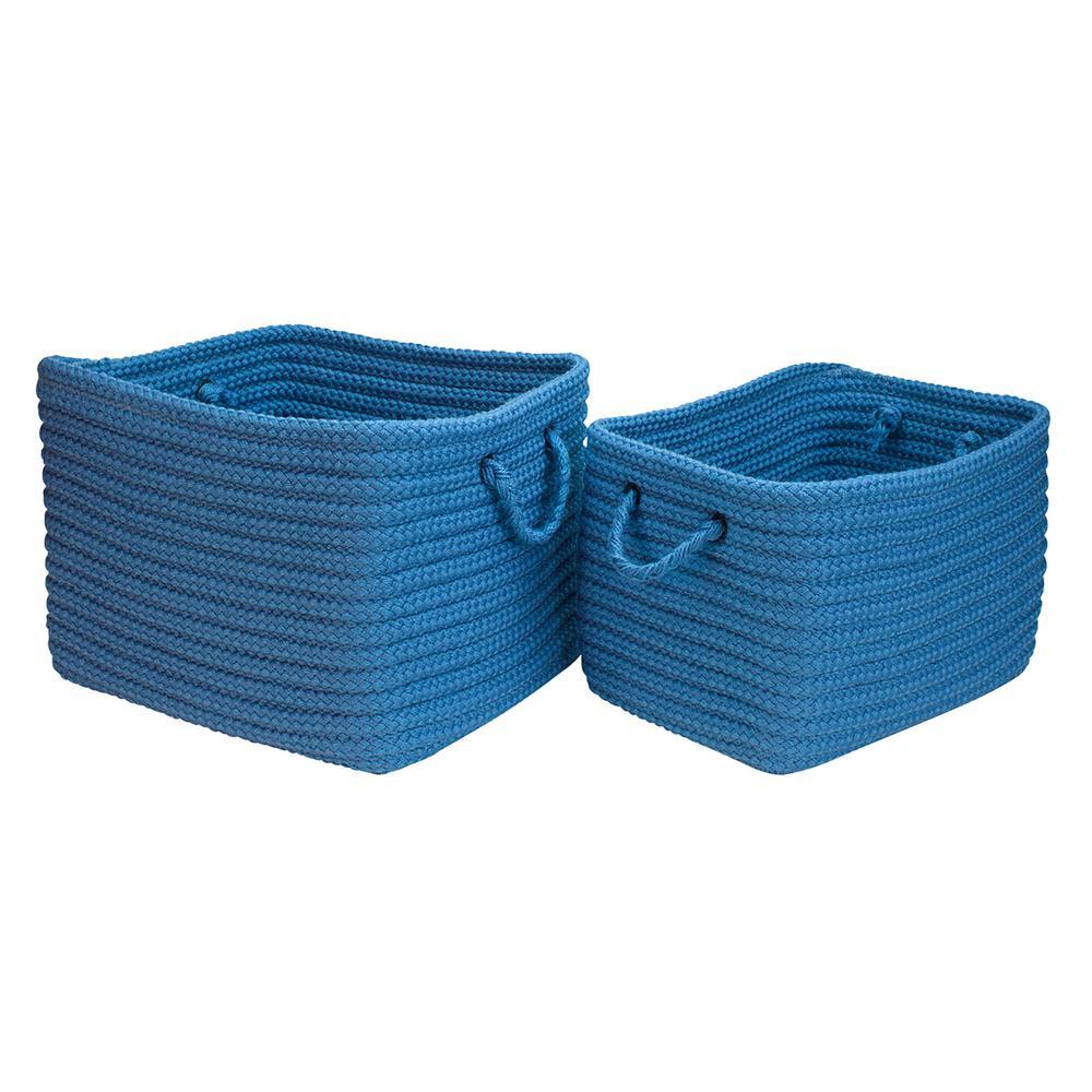 16 in. x 12 in. x 10 in. Modern Mudroom Polypropylene Storage in Dusk Blue
