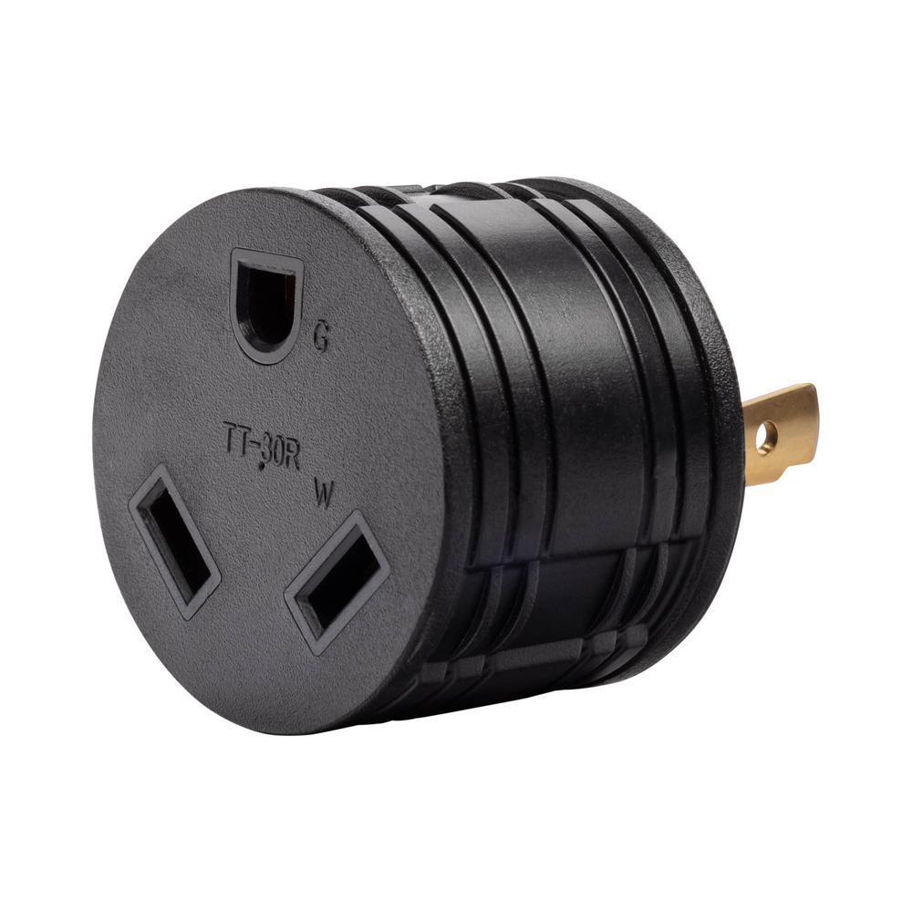 30 Amp 120-Volt L5-30P to TT-30R Generator Plug Adapter