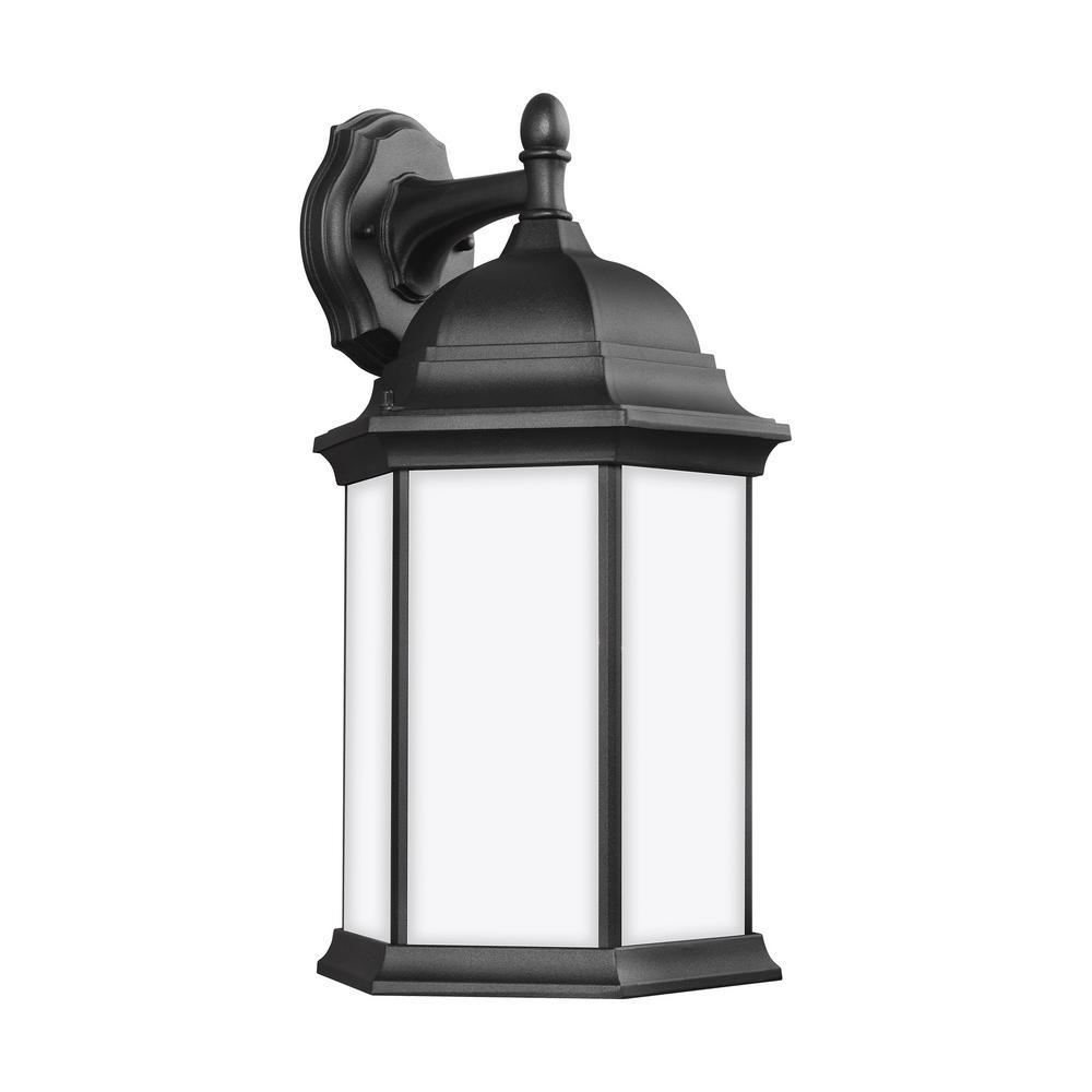 Sevier 1-Light Black Outdoor Wall Lantern