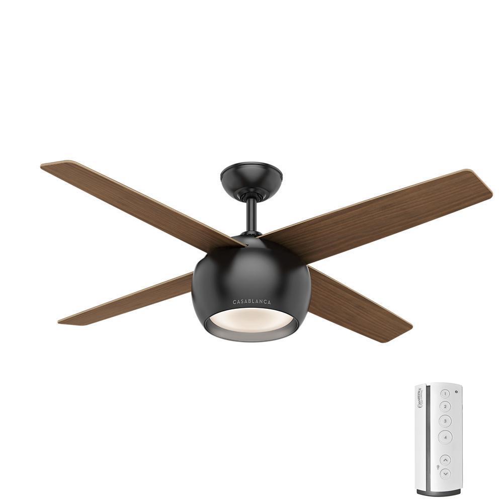 Valby 54 in. LED Indoor Matte Black Ceiling Fan