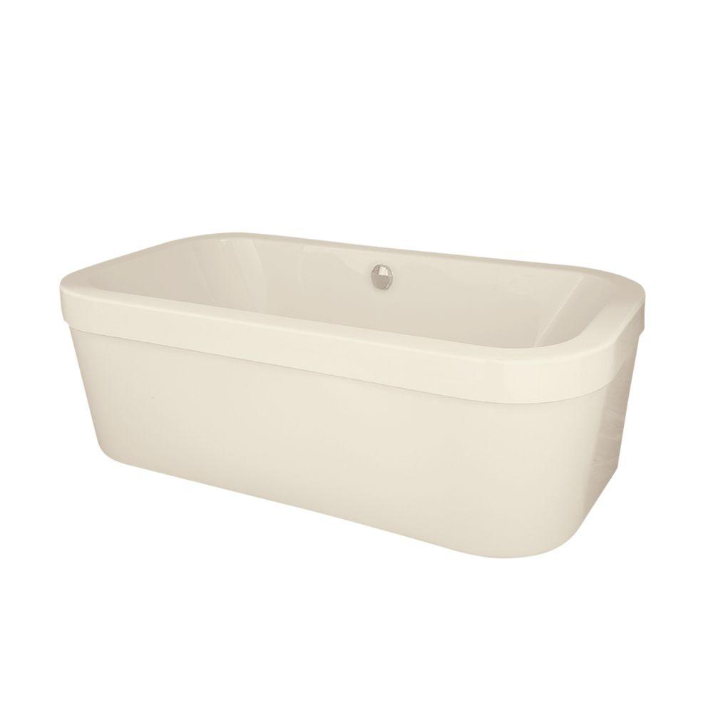 Hydro Systems Trenton 6 ft. Right Drain Bathtub in Biscuit ...
