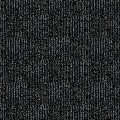 First Impressions City Block Black Ice Texture 24 in. x 24 in. Carpet Tile (15 Tiles/Case)