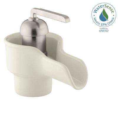 Bol Single Hole Single-Handle Low-Arc Water-Saving Bathroom Faucet in Biscuit
