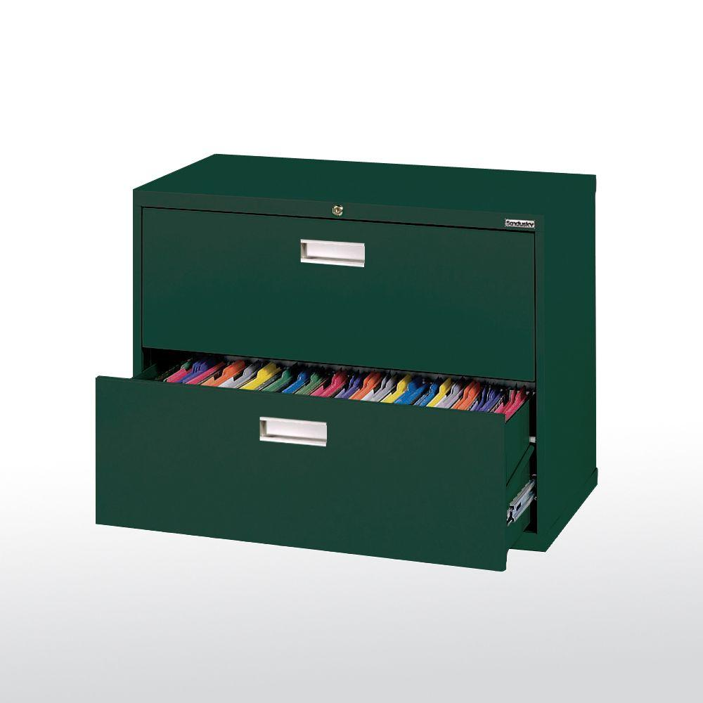 600 Series 36 in. W 2-Drawer Lateral File Cabinet in Forest