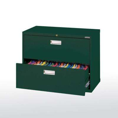 W 2 Drawer Lateral File Cabinet In Forest Green