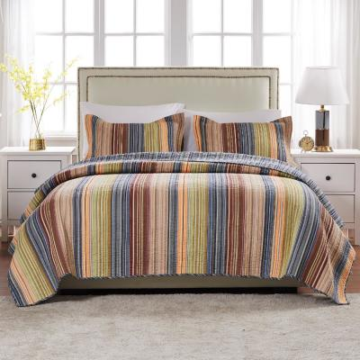 Katy 3-Piece Multicolored King Quilt Set