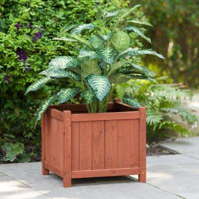 18 in. Square Cedar Planter Box