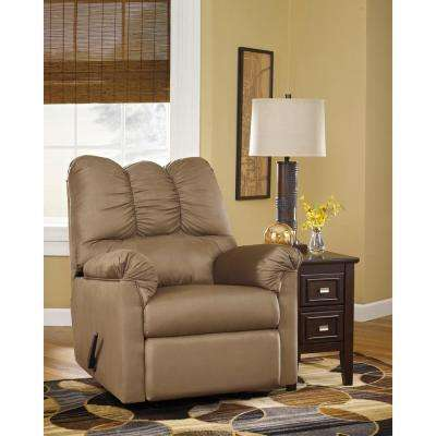 Signature Design by Ashley Darcy Mocha Fabric Rocker Recliner