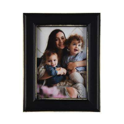 Longwood Rustic Black 5 in. x 7 in. Picture Frame (Set of 2)