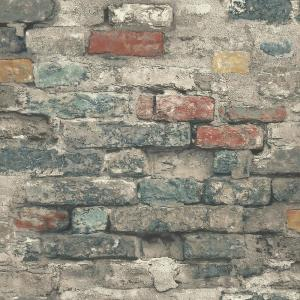 RoomMates 28.18 sq. ft. Brick Alley Peel and Stick Wallpaper by RoomMates