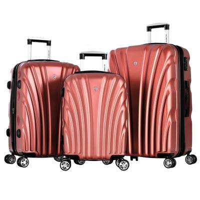 Vortex Pink 3-Piece PET Hard Case Set with TSA
