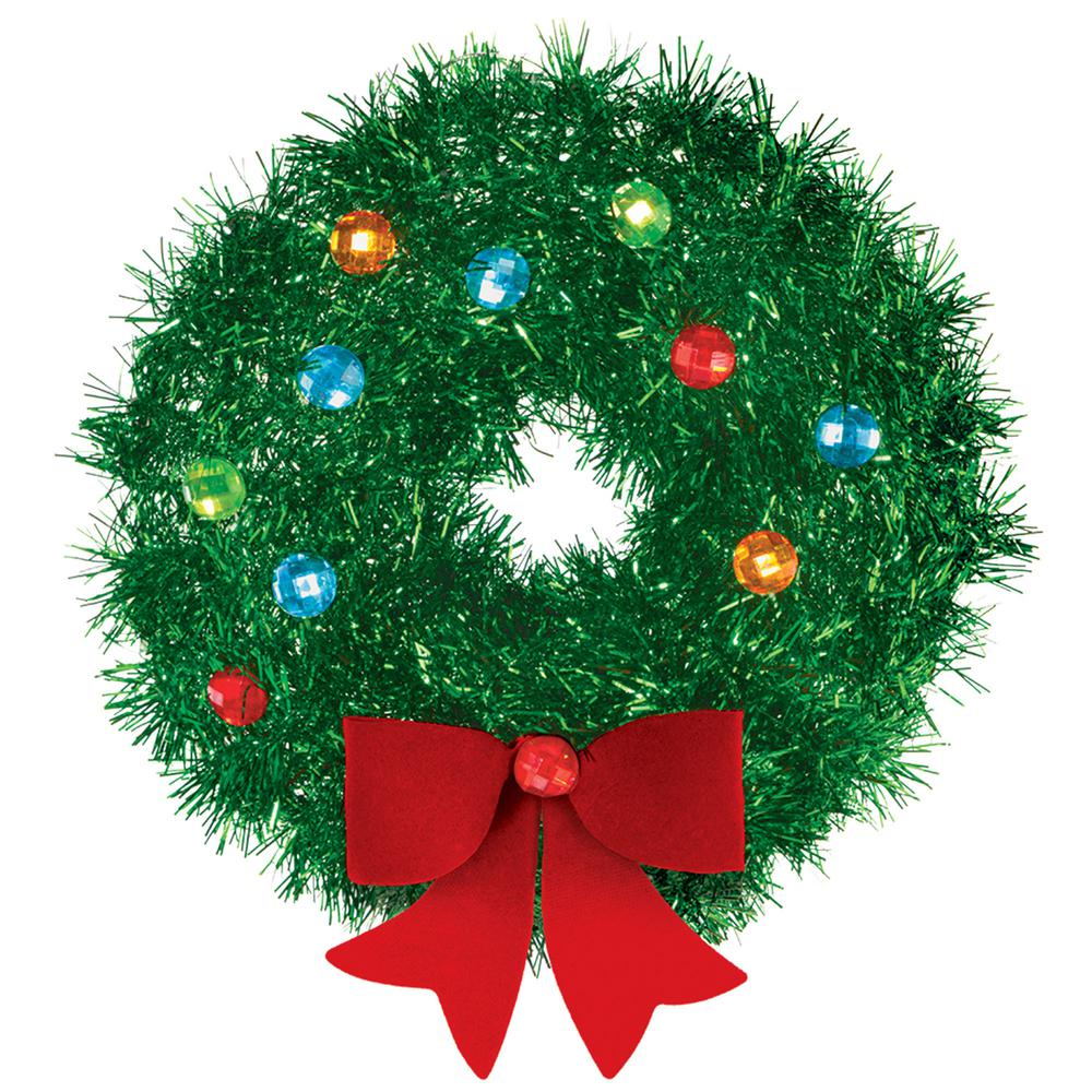 christmas mini tinsel wreath 5 pack