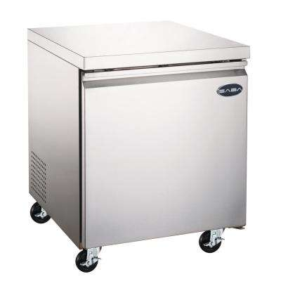 27 in. W 6.3 cu. ft. Commercial Under-Counter Refrigerator in Stainless Steel
