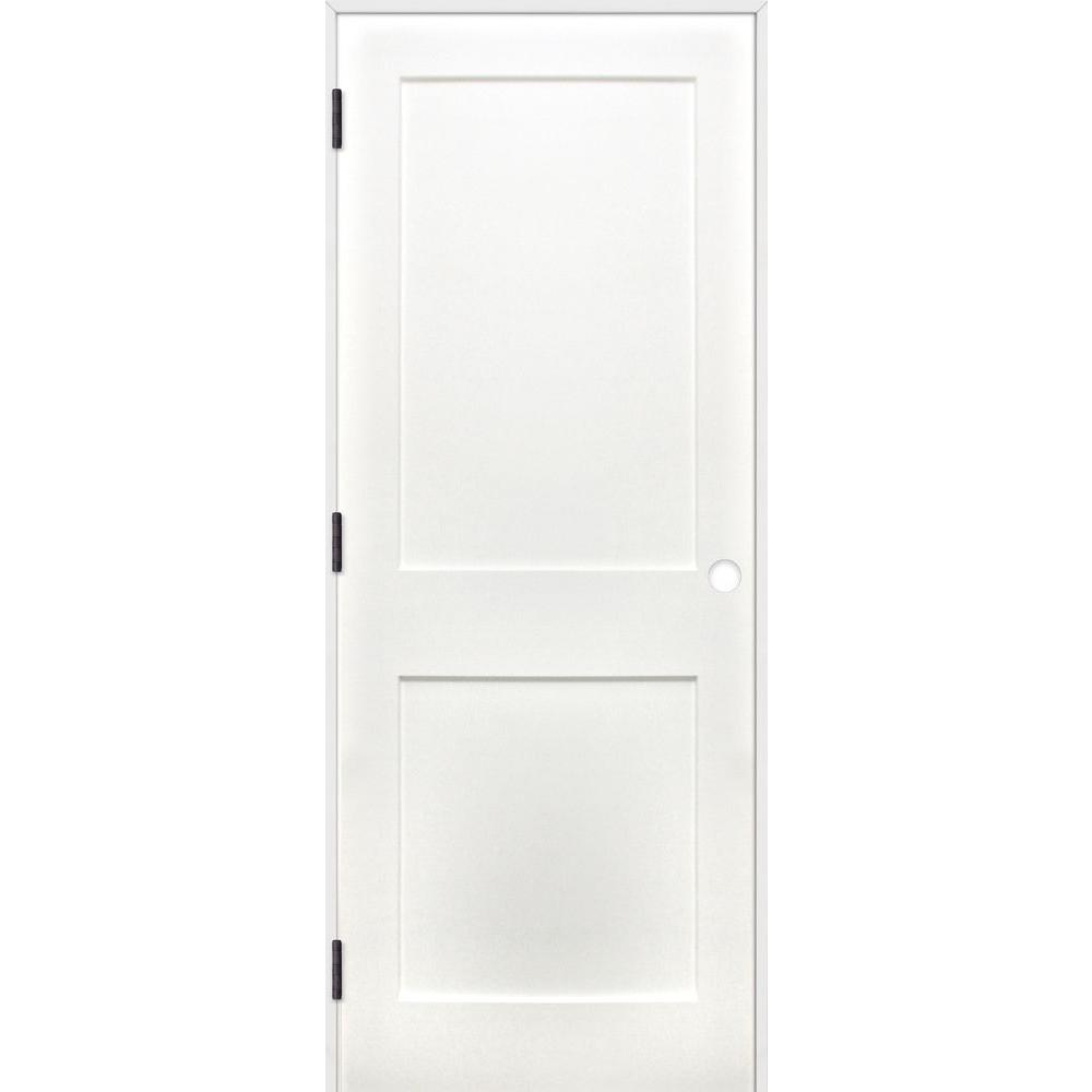 Pacific entries 28 in x 80 in shaker unfinished 2 panel for 10 panel interior door