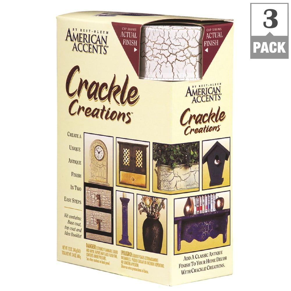 Venetian White Crackle Creations Kit (3-Pack)