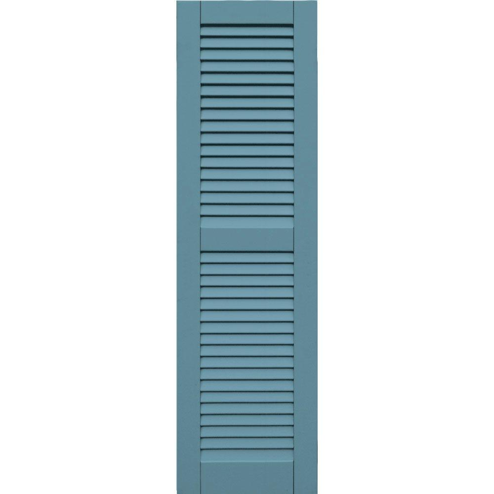 Winworks Wood Composite 15 in. x 53 in. Louvered Shutters Pair #645 Harbor