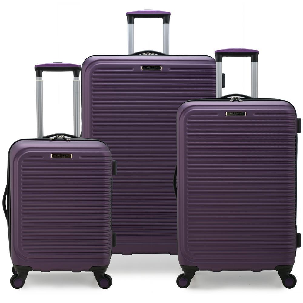 Sunshine 3-Piece Purple Hardside Spinner Luggage Set