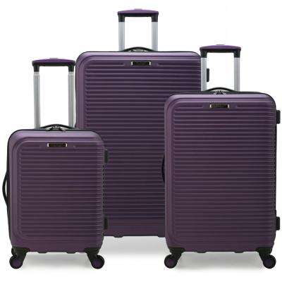 Sunshine 3-Piece Purple Hardside Spinner Luggage Set