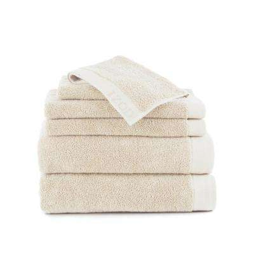 Classic 6-Piece Cotton Bath Towel Set in Egret