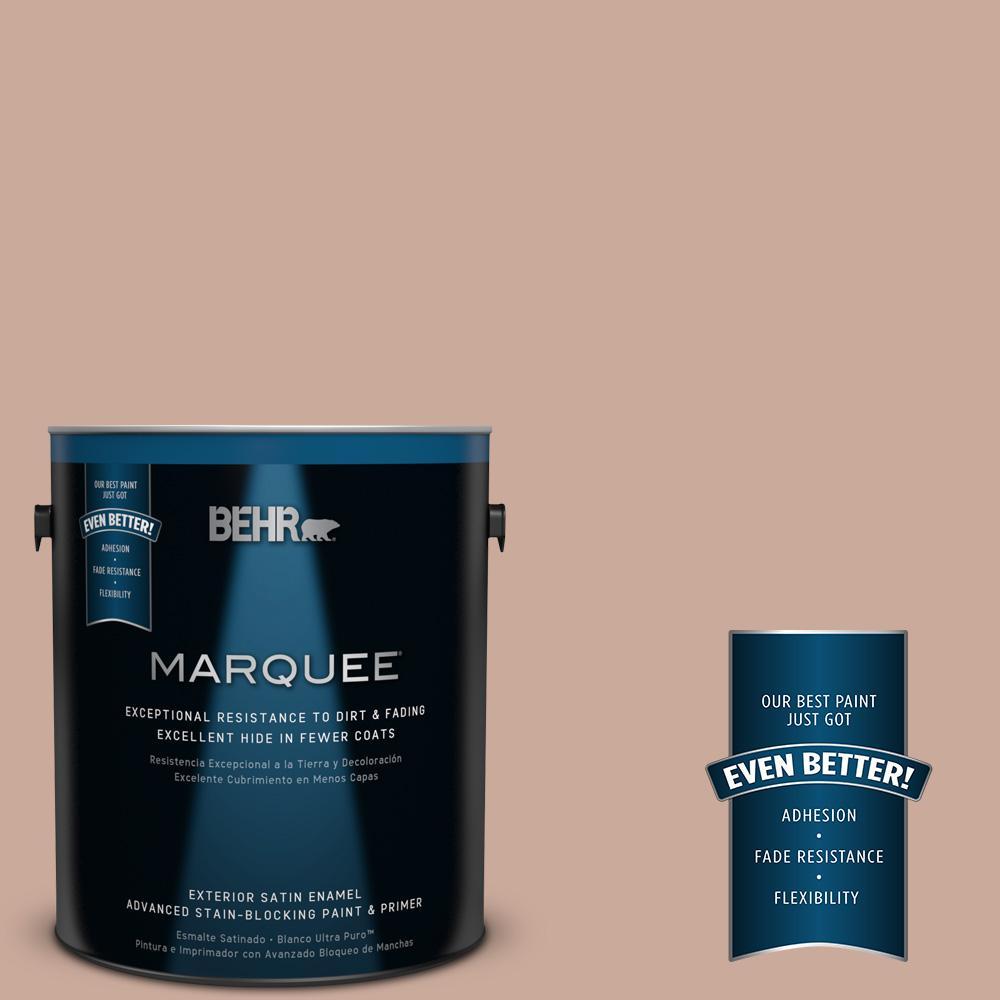 BEHR MARQUEE 1-gal. #ICC-97 Powdered Allspice Satin Enamel Exterior Paint