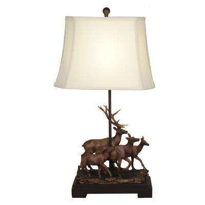 29 in. Herd of Deer Table Lamp with Shade