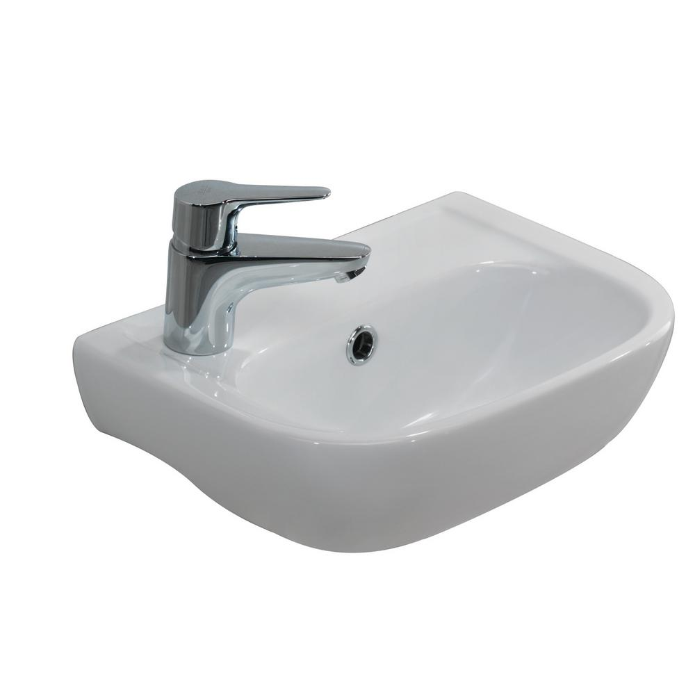 Barclay Caroline 380 15 in. Wall Hung Sink in White