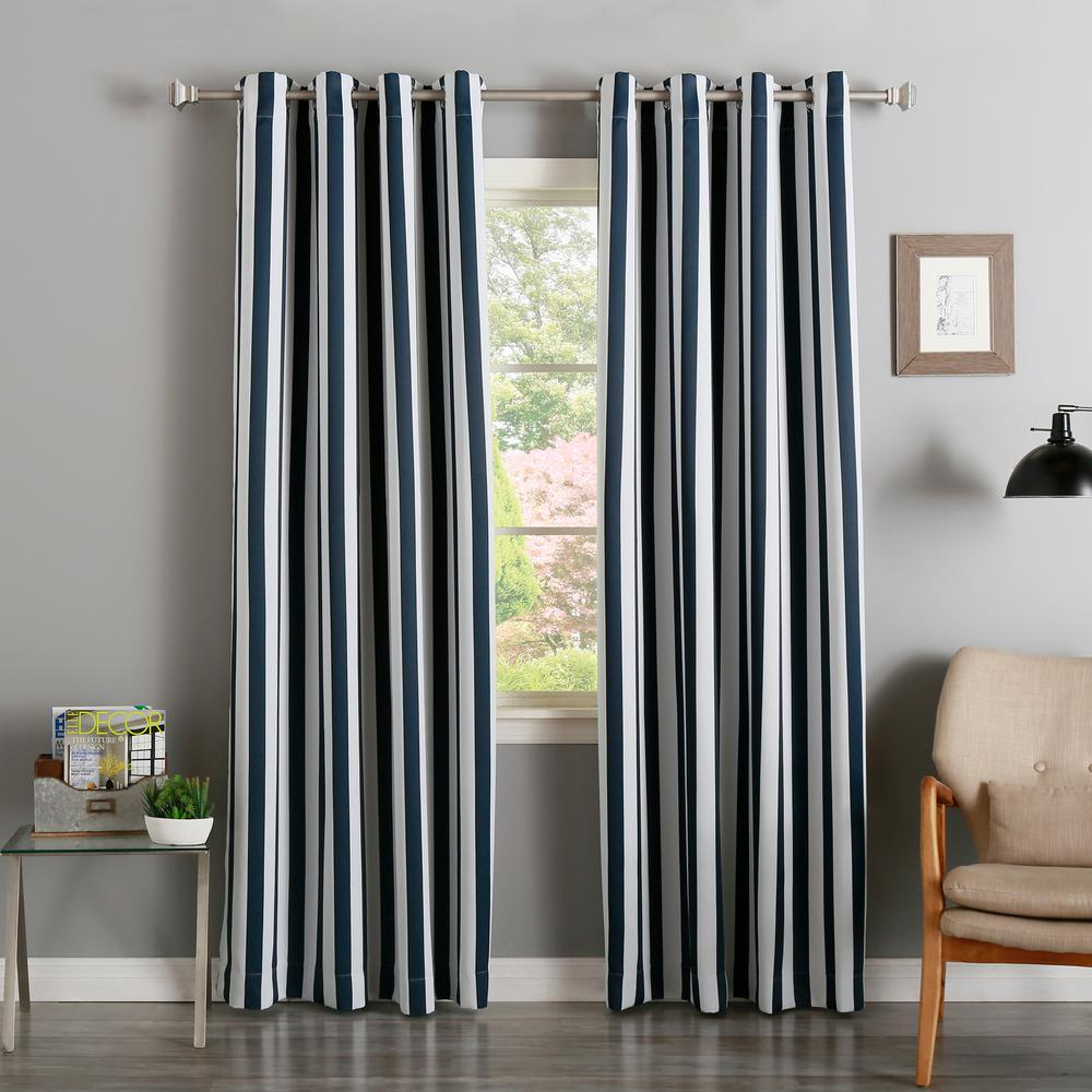 Best Home Fashion 84 In L Room Darkening Vertical Stripe