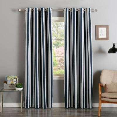 Striped SemiOpaque Curtains Drapes Window Treatments The