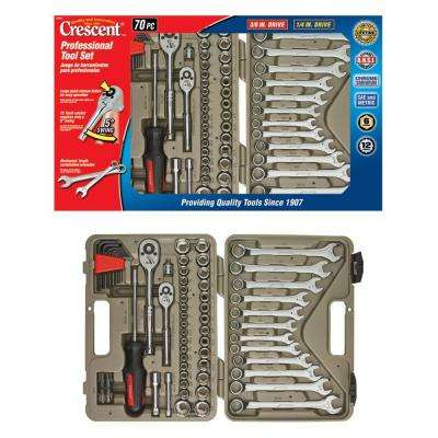 Mechanics Socket and Tool Set (70-Piece) with Hard Case