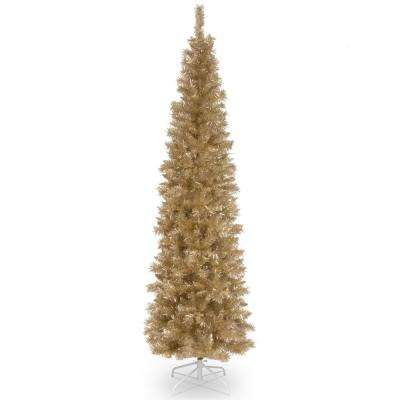 7 ft. Champagne Gold Tinsel Artificial Christmas Tree