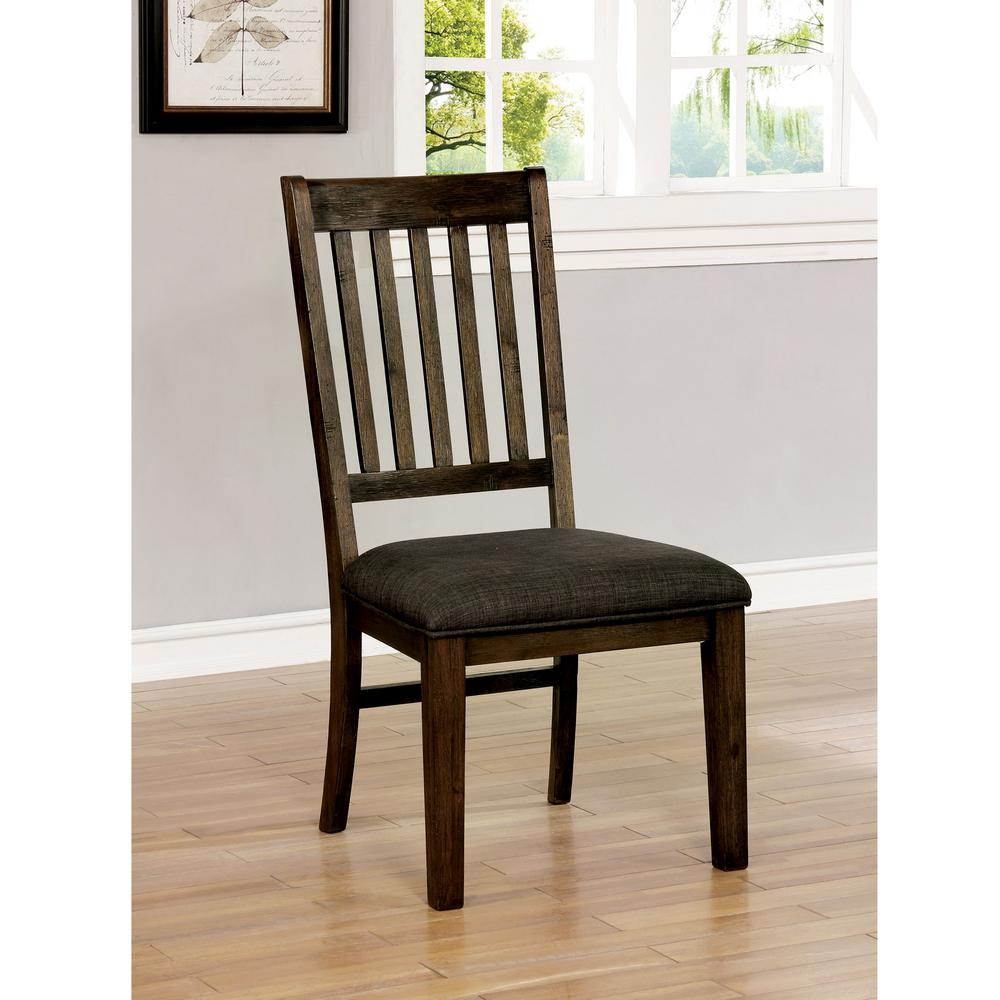 Remarkable Furniture Of America Collin Walnut Fabric Slat Side Chair Squirreltailoven Fun Painted Chair Ideas Images Squirreltailovenorg