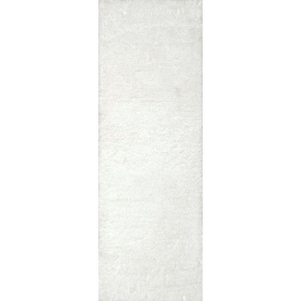 nuLOOM Maginifique Shag Snow 3 ft. x 8 ft. Runner Rug