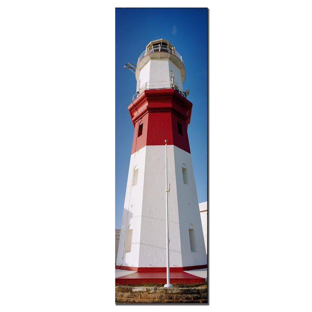 10 In. X 32 In. Bermuda Lighthouse Canvas Art-EM245