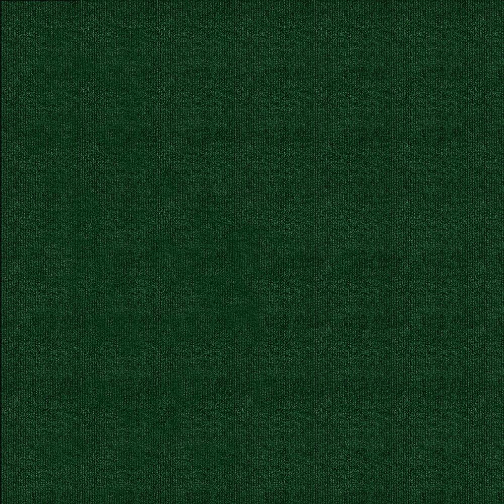 Heather Green Ribbed 18 in. x 18 in. Carpet Tile (16