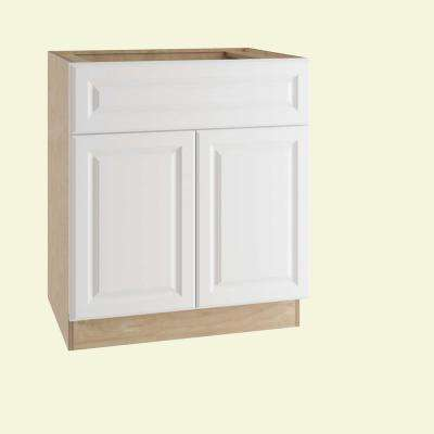 Sink Base Kitchen Cabinet With False Drawer Front In