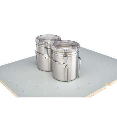 6.5 in. H x 6.5 in. W x 10.25 in. D Drop-in Canister Holder with Canisters for Drawer Peg Board System