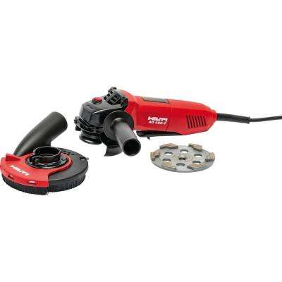 7 Amp 120 Volt Corded 4.5 in. Angle Grinder AG 450-7D Including Diamond Cup Wheel and Grinding Hood