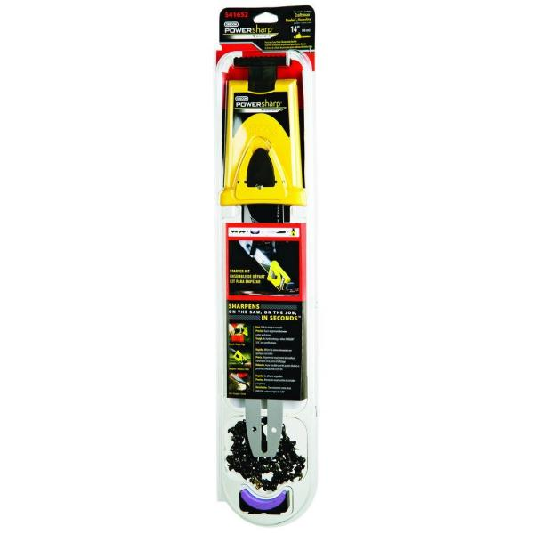 14 in. 52 Drive Link  Chainsaw Chain and Bar Starter Kit - PowerSharp